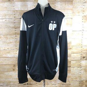 Nike Zip Up Black/White Jacket Sz L